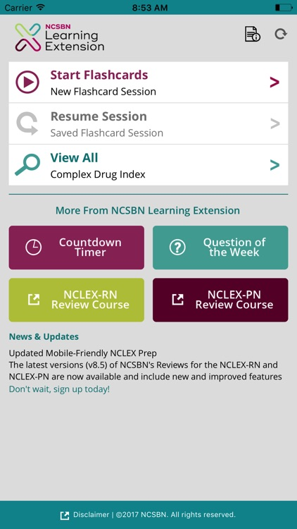 NCSBN Learning Extension's Medication Flashcards screenshot-0