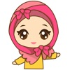 Dinda, girl with pretty hijab for iMessage Sticker