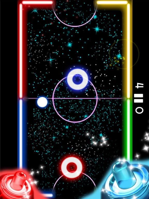 Скачать Glow Hockey HD 2 воздушный хоккей галактика война