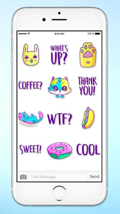 Super Happy Fun Neon Retro Sticker Pack screenshot-3