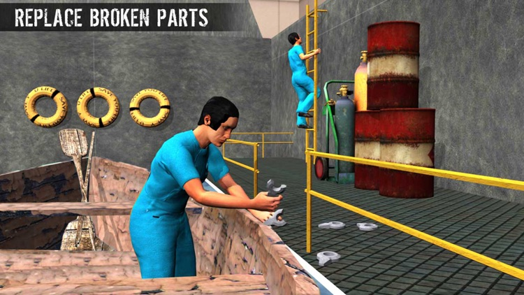 Cargo Ship Mechanic Simulator 3D: Workshop Garage by Techving