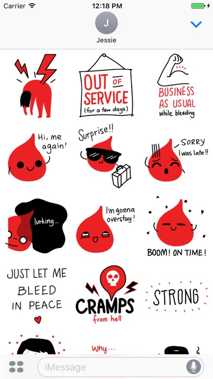 Period Survival Kit Stickers screenshot-1