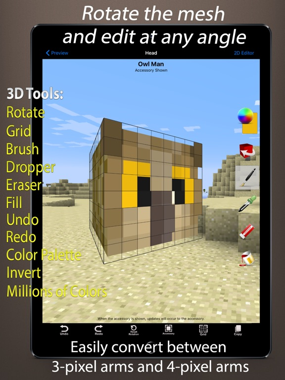 Skin Creator D For Minecraft By Eighth Day Software LLC IOS - Minecraft skin stealer name mc