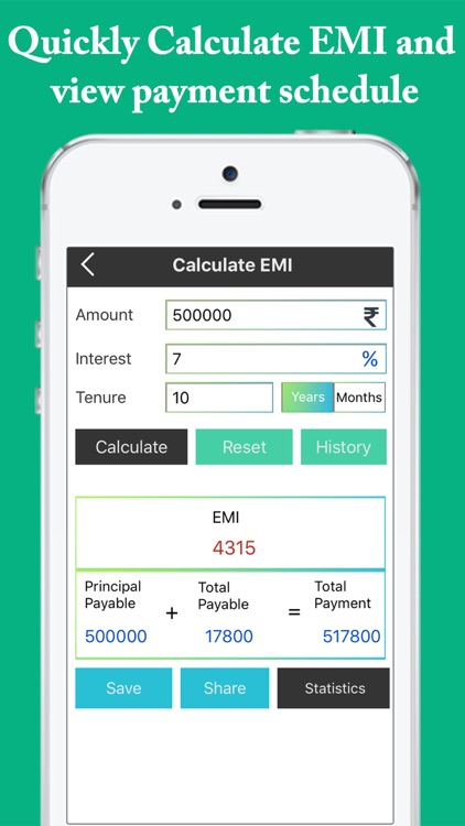 Emi Calculator  Easy EmiLoanInterest Calculator By Divya Mehta
