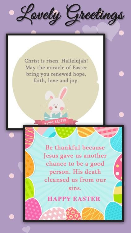 Happy Easter greeting card maker app,easter frames screenshot-3
