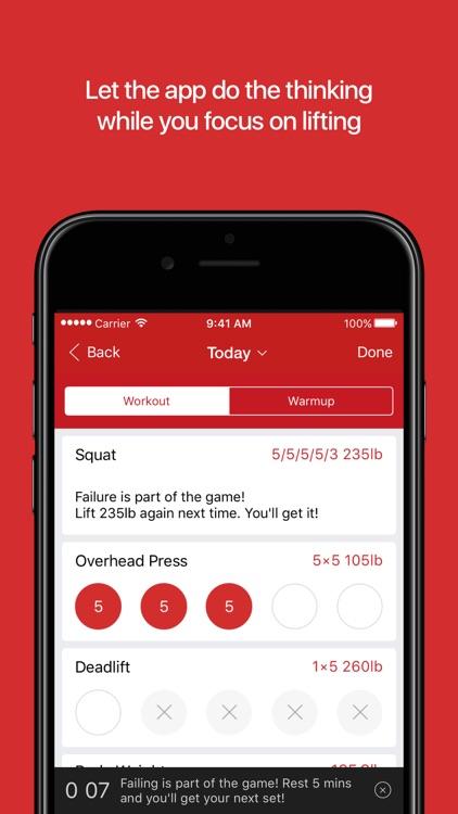 StrongLifts 5x5 Workout screenshot-3