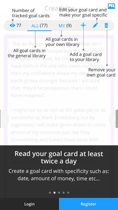 iGoalCard: Daily Life Planner & Goals Tracker screenshot two