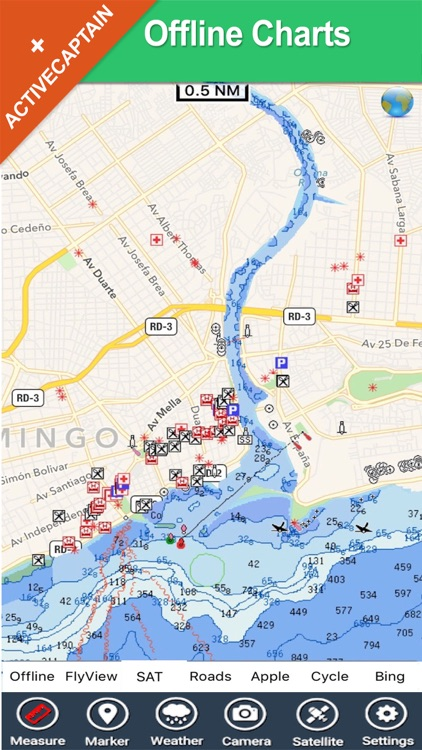 Dominican Republic charts GPS map Navigator
