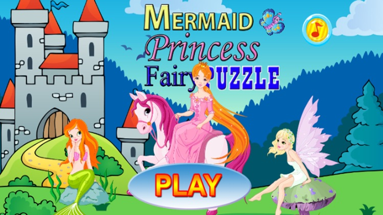 Mermaid and Princess Puzzle Game
