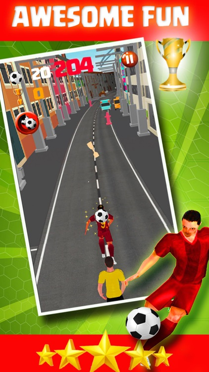 Football Star Pro Runner Shoot 3D