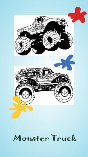 çocuklar Ve Okulöncesi Için Monster Truck Boyama App Storeda