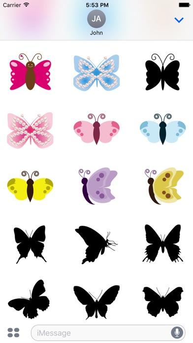 Pop und schicke SchmetterlingsaufkleberScreenshot von 3