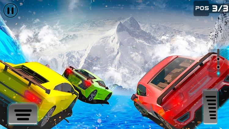 Frozen Water Slide Car driving simulator screenshot-4