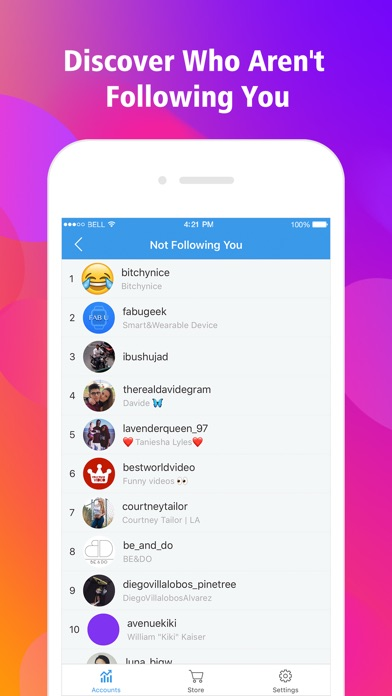 Followers for Instagram Insta Follower Tracker 1.0 Social &Communication iphone