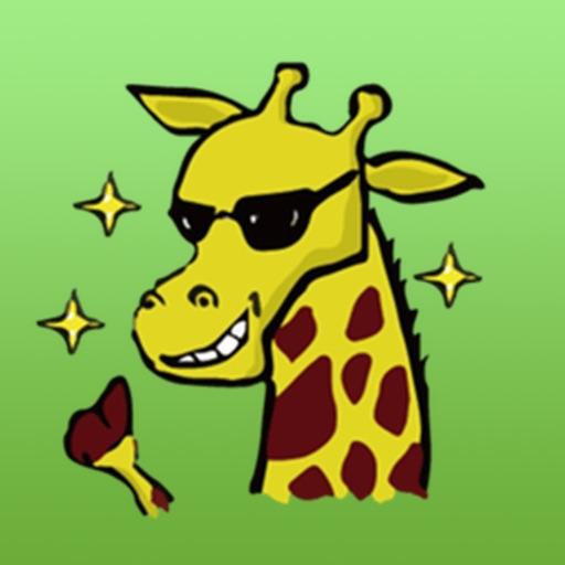 Funny Raffe Giraffe Sticker