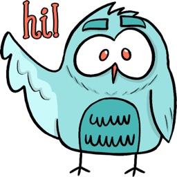 Cute Owl stickers by Hazal