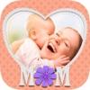 母亲节日温馨祝福贺卡制作相框相机 -创建相册和拼贴