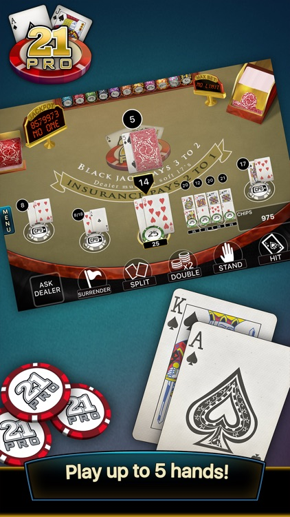 21 Pro: Blackjack Multi-Hand screenshot-2