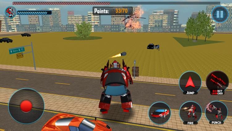 Futuristic Car Robot Rampage screenshot-3