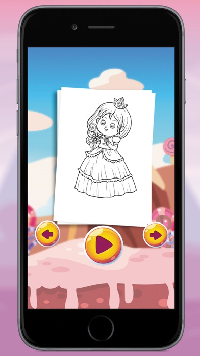 Princess Coloring Book For Kids And Girl screenshot three