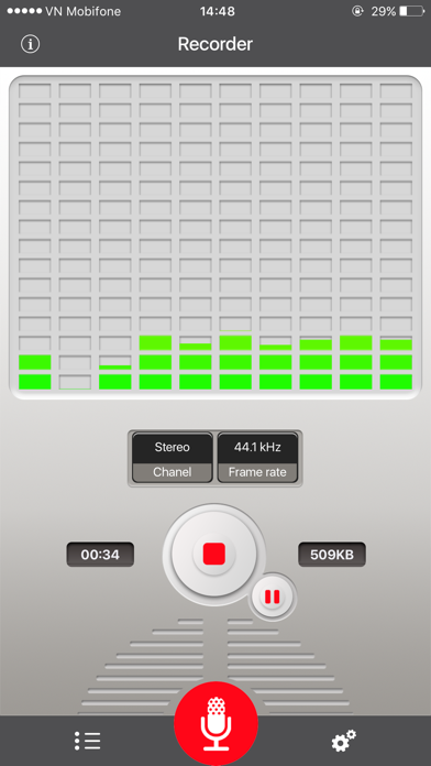 Voice Recorder for dropbox screenshot one