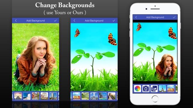Bild auf hintergrund einfugen app