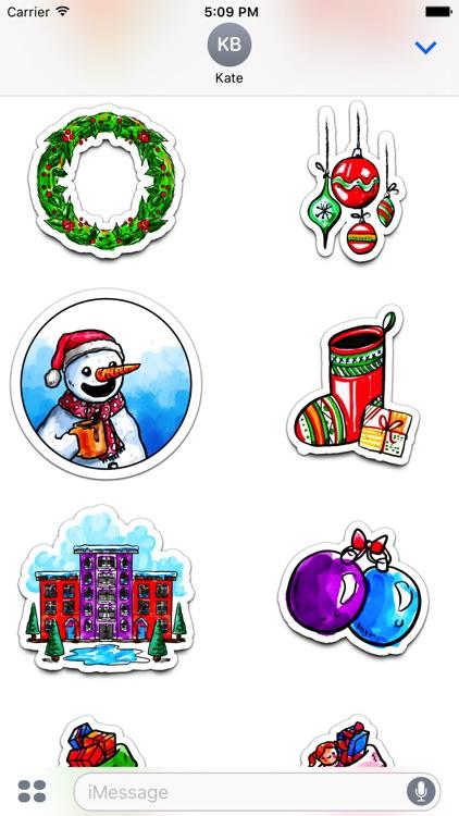 Watercolor Christmas Stickers Vol. 3 screenshot-3