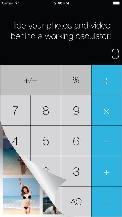 Calculator Photo Vault - Private photo & video