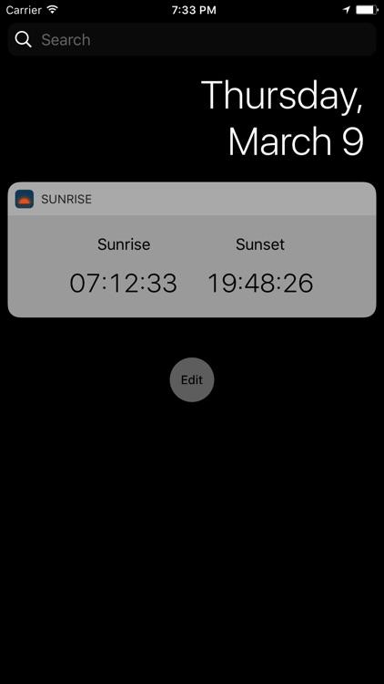 Sunrise: Simple sunrise sunset calculator screenshot-3