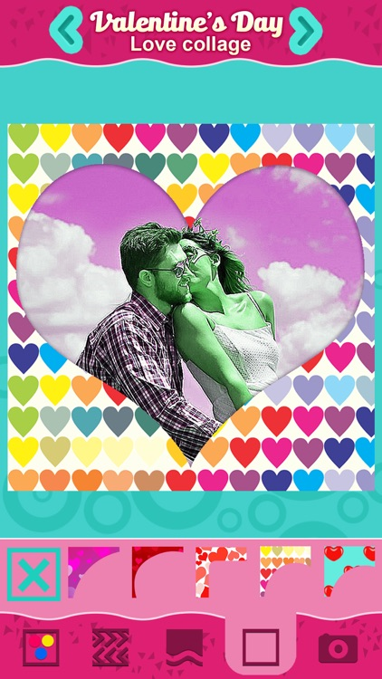 Valentine's Day Love Collage: Cute Photo Frames