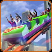 疯狂的过山车孩子卧室游戏视频游戏VR技术【Virtual Park Roller Coaster】