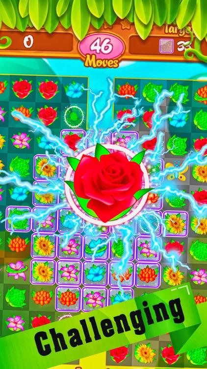 Garden Flower Match 3 - New puzzles game