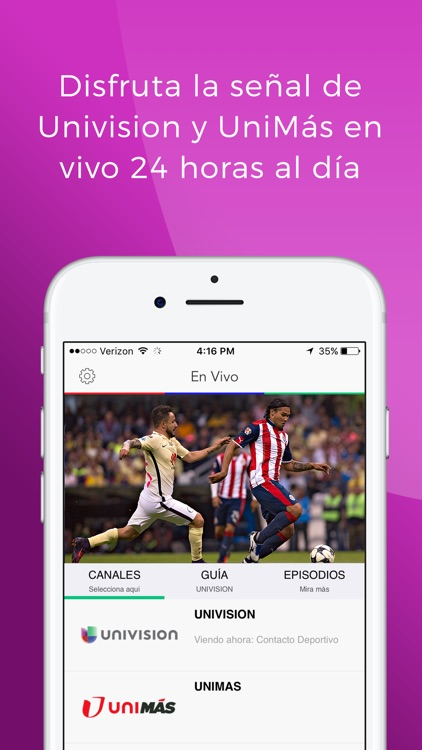 Univision NOW – Stream TV en Vivo y On Demand screenshot-0