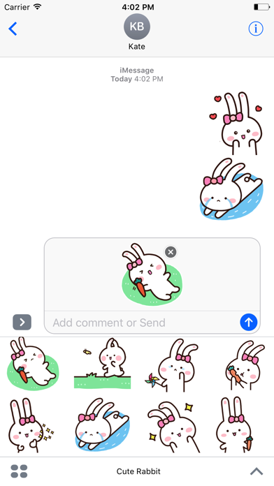 Happy Rabbit - Animated Stickers And Emoticons