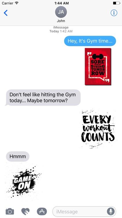 Fitness Motivation Sticker Pack