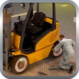 Construction Truck Mechanic 3D-Fix Crane in Garage