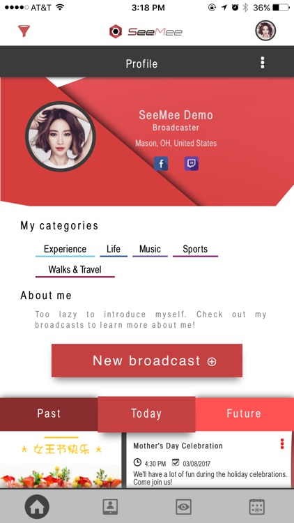 SeeMee - THE Schedule for Live Video Streaming