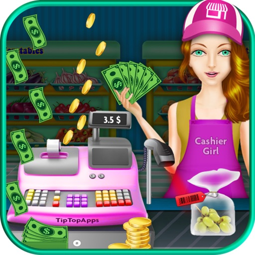 Supermarkt-Kasse & Einkaufen Mädchen