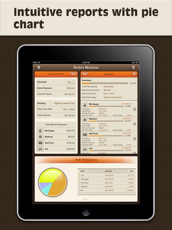 Debts Monitor Pro for iPad-Debt Tracker & Reminder screenshot-4