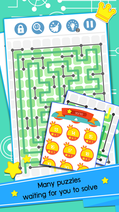Linemaze Puzzles screenshot four