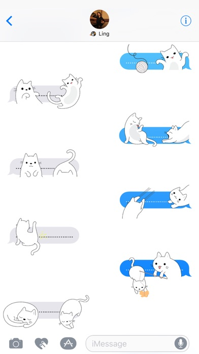 Yuki Neko - Kitty Cat Fun Pet Stickers screenshot four
