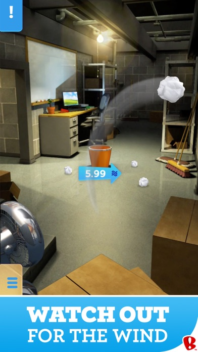 Paper Toss review screenshots