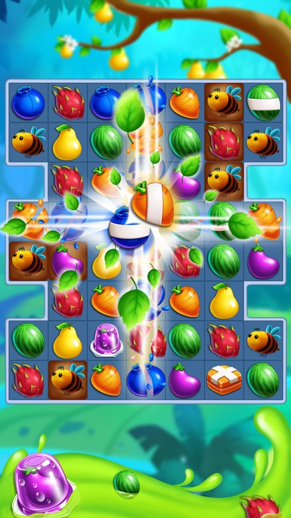Monster Fruit Pop Jam: match 3 games matching free