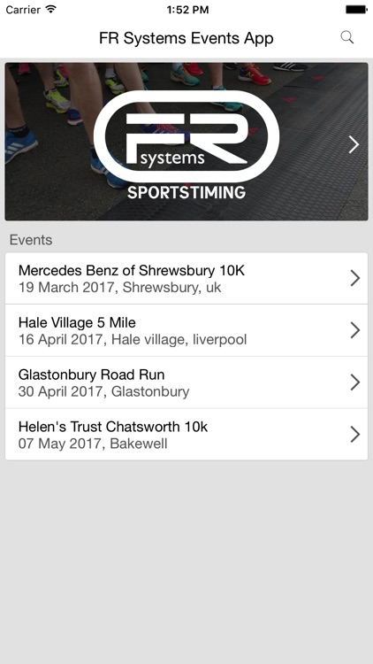 FR Systems Events App