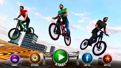Rooftop BMX Bicycle Stunt Rider - Cycle Simulation