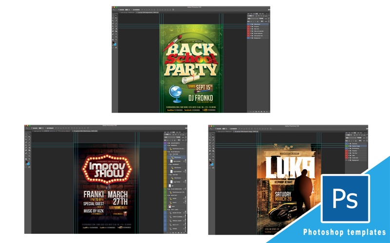 Poster templates for Photoshop