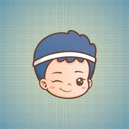 Sticker Me Blue Sport Boy