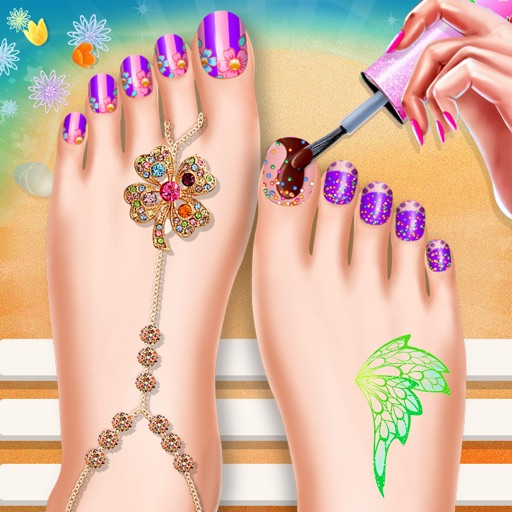 Toe Nail Salon Beauty Nail Art For Fashion Girls