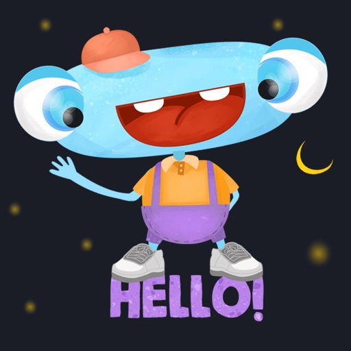 Happy Funny Monster - cute stickers