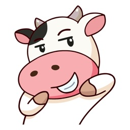 Perky Cow Animated Emoji Stickers